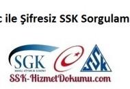 Tc ile Şifresiz SSK Sorgulama